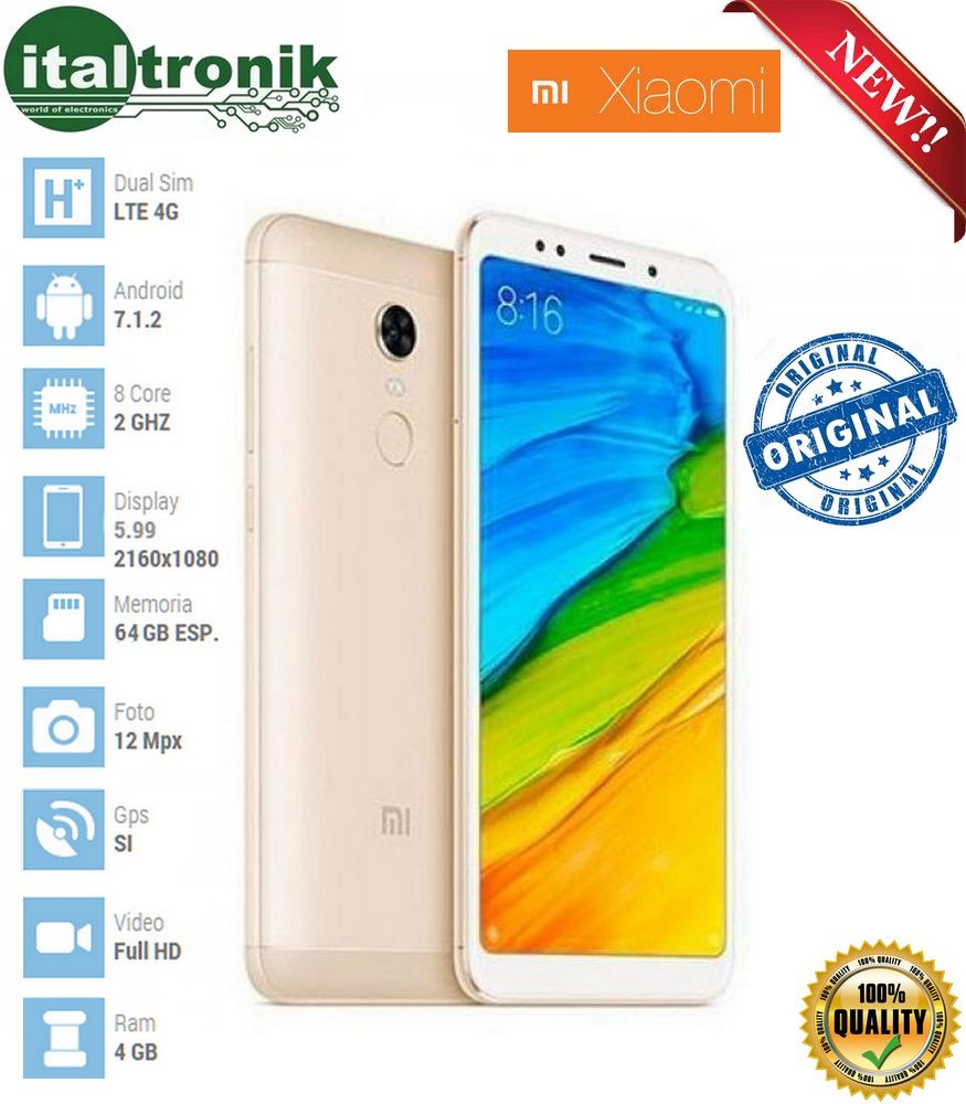 SMARTPHONE XIAOMI REDMI 5 PLUS 4/64GB GOLD